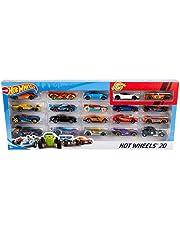 Hot Wheels Pack de 20 vehiculos, coches de juguete (modelos surtidos) (Mattel H7045)