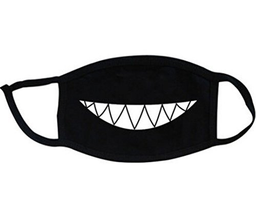 Super-Hunter-Outdoor-Protective-Cartoon-Teeth-Cotton-Face-Mouth-Mask-Suitable-for-Adults-8-Black