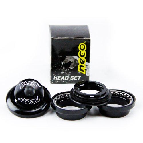 Neco 1 1/8 inch Threadless Bike Headset (Black) by Zycle Fix