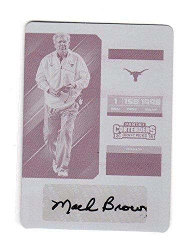 2018 Panini Contenders Magenta Printing Plate Mack Brown #8 NM Near Mint Auto 1/1 (Magenta Printing Plate)
