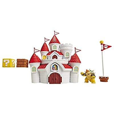 "Nintendo Super Mario Mushroom Kingdom Castle Playset with Exclusive 2.5"" Bowser Figure: Toys & Games"