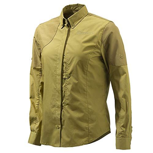 Beretta Womens Upland Front Load Shirt; Light Brown; L