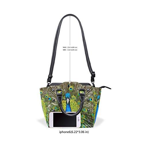Tote Bags Women's TIZORAX Leather Peacock Shoulder Animal Handbags Animal Leather Shoulder Tote Bags TIZORAX Handbags Peacock Women's RgwORqBAn