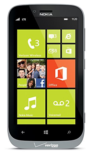 Nokia Lumia 822 16GB Unlocked GSM 4G LTE Windows 8 Smartphone w/ 8MP Camera, Gray (Certified Refurbished)
