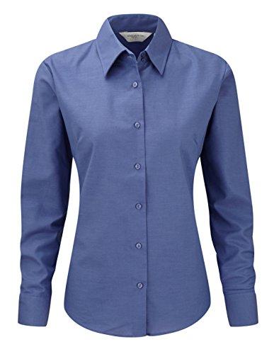 pour Russell homme femme longues Oxford longues manches Collection facile Chemis' Aztque Entretien pour Bleu manches q4Wvrt4