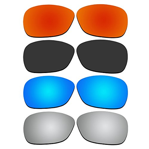 4 Pair Replacement Polarized Lenses for Oakley C Wire New (2011) Sunglasses Pack - C Oakley Polarized Wire