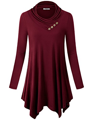 Long Sleeve Cowl Neck Top - 7