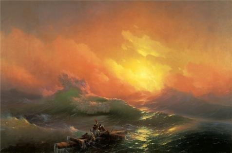 Oil Painting 'The Ninth Wave,1850 By Ivan Aivazovsky' Printing On High Quality Polyster Canvas , 24x36 Inch / 61x92 Cm ,the Best Dining Room Artwork And Home Gallery Art And Gifts Is This Imitations Art DecorativeCanvas Prints