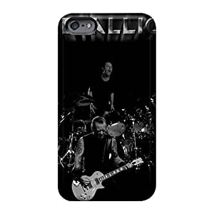 Shock Absorption Hard Phone Cases For Iphone 6 With Provide Private Custom Stylish Metallica Band Pattern JamieBratt