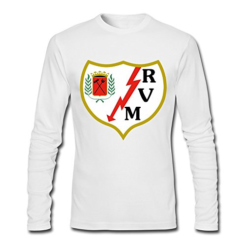 fan products of Men's Rayo Vallecano Logo Custom Long-Sleeve T-Shirt White L By Rahk