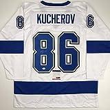 Autographed/Signed Nikita Kucherov Tampa Bay White