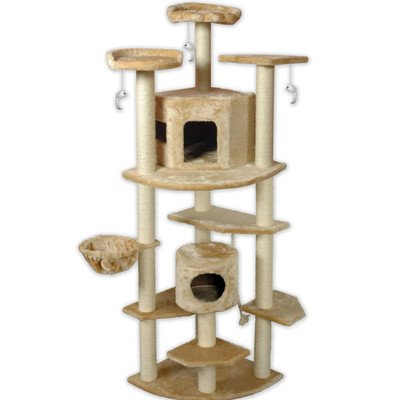 Go Pet Club Cat Tree, 80-Inch, Beige, My Pet Supplies