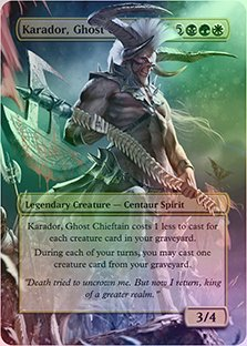 Karador, Ghost Chieftain - Casual Play Only - Customs Altered Art Foil ()