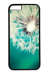 iPhone 6 Case, Personalized Unique Design Covers for iPhone 6 PC Black Case - Dandelion
