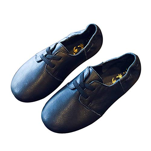F-OXMY Boy's Lace up Non-Slip Casual Shoes Round Toe Soft Oxfords Dress Shoes (Toddler/Little Kids) Black by F-OXMY