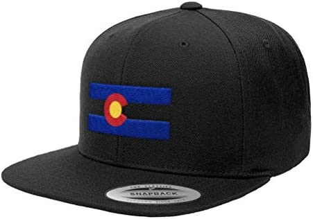 7db9918f Chicago Flag Hats Colorado State Flag Premium Classic Snapback Hat Denver  Boulder 6089M - Black