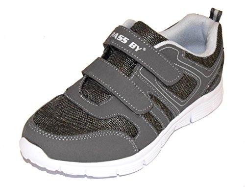 BTS - Zapatillas de running de malla para mujer Multicolor - gris