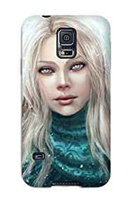 High Grade Kevin S Anderson Flexible Tpu Case For Galaxy S5 - Angel Fantasy Abstract Fantasy