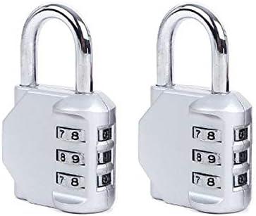 DONJON 2 Pack con Candado de Combinación,3 Digital Cerraduras de ...