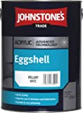 5LTR - JOHNSTONES TRADE ACRYLIC EGGSHELL BRILLIANT WHITE