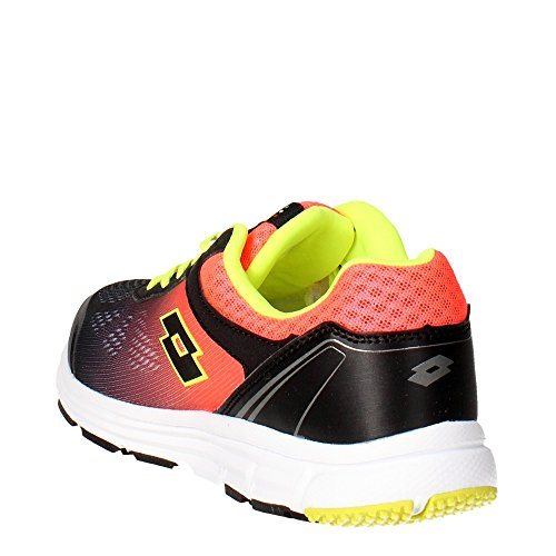 Lotto Lightrun Sh, Zapatillas de Running para Hombre Negro / Rojo (Blk / Red Fl)