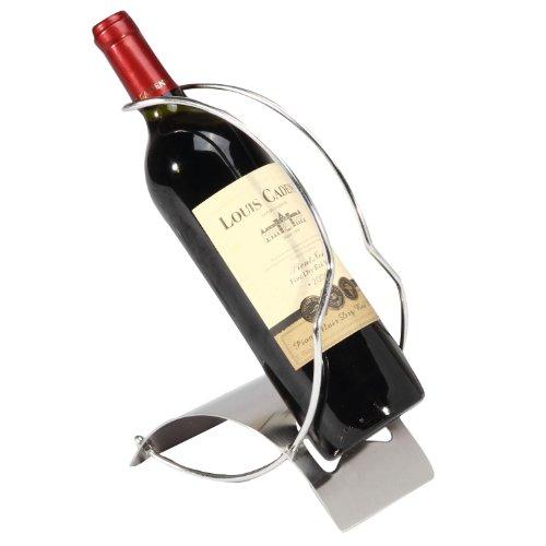 Elegant Sleek Modern Stainless Steel Wine Bottle Serving Pou