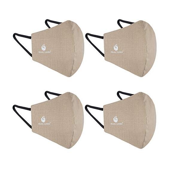 Marc Loire 100% Pure Cotton 6-Layered Super Soft Reusable Washable outdoor protection face mask for men/women