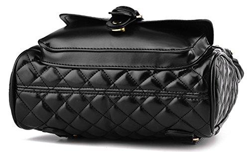 Longzibog Einfache und Modedesign. Nie aus der Mode. Mode Damen accessories hohe Qualit?t Einfache Tasche Schultertasche Freizeitrucksack Tasche Rucks?cke Schwarz
