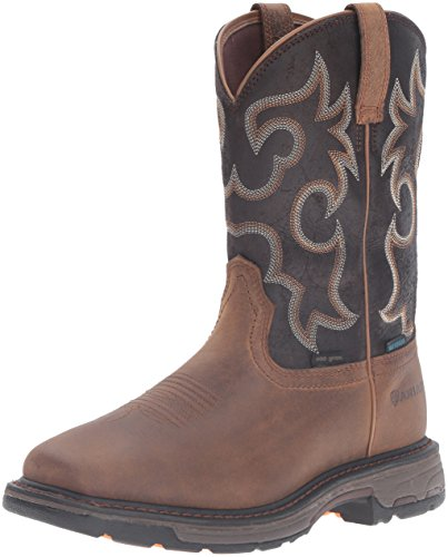 Ariat Men's Workhog H2O 400g Work Boot, Rye Brown/Coffee, 9.5 D US