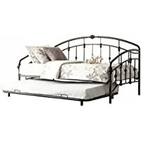Homelegance 4962DB-NT Metal Daybed with Trundle, Burnished Bronze Finish