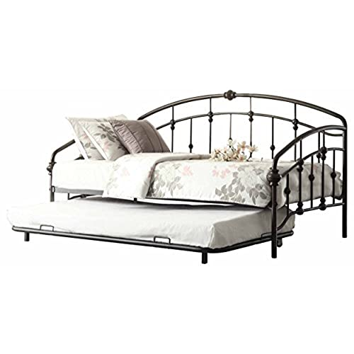 Homelegance 4962DB NT Metal Daybed With Trundle Burnished Bronze Finish