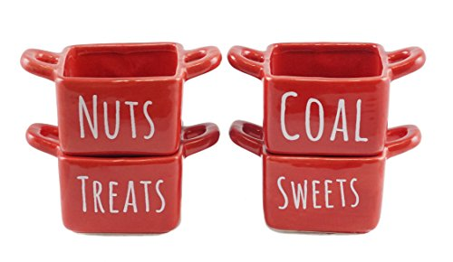 Holiday Candy & Snack Dish Set with Handles - Set of - Candy Dish Handle