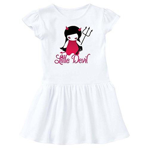 inktastic - Halloween Little Devil Infant Dress 6 Months White 245d5 for $<!--$14.99-->