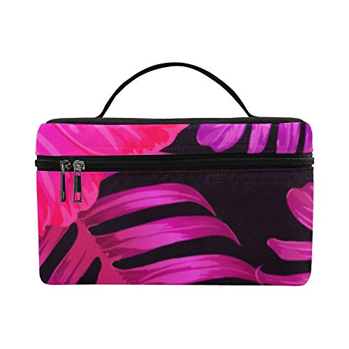 Hibiscus Flower Tropical Bouquet Pattern Lunch Box Tote Bag Lunch Holder Insulated Lunch Cooler Bag For Women/men/picnic/boating/beach/fishing/school/work ()