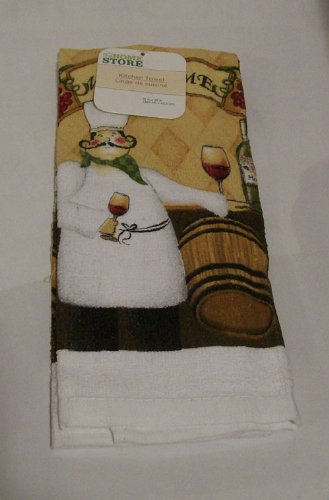 """The Home Store """"Chef"""" Themed Kitchen Decor - The Fat Chef WELCOMES YOU - 6 Items in Set: * 2 Kitchen Towels * 2 Oven Mits * 2 pk Pot Holders"""