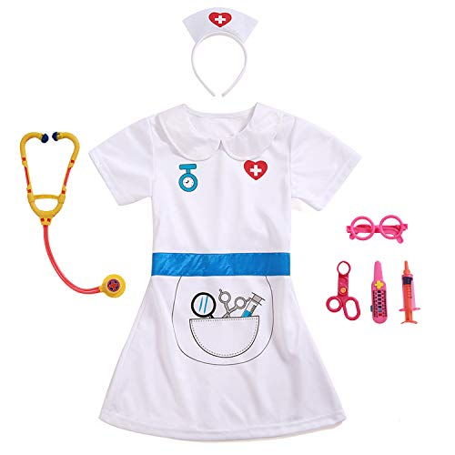 Kids Role Play Costume Set Pretended Costumes Accessories (Nurse Role Play Set) -