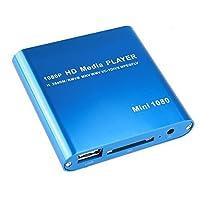 Reproductor de medios digital AGPtEK Mini 1080P Full HD - MKV /RM-SD /USB HDD-HDMI