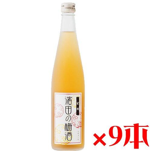 紀州 濱田の梅酒 梅酒 500ml×9本 濱田 完熟南高梅を使用したまろやかな梅酒 B01HCPRLZM  9本