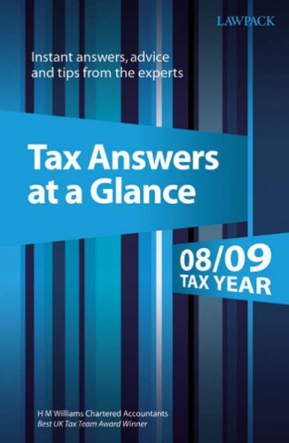 Download Tax Answers at a Glance 2008-09: Instant Answers, Advice and Tips from the Experts ebook