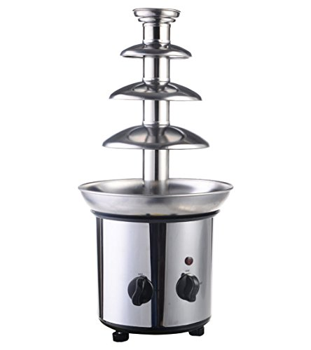 4 Tiers Commercial Stainless Steel Hot New Luxury Chocolate Fondue Fountain New by Generic