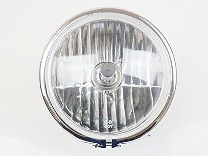 "5 7/10 ""metal cromado lateral para faros H4 Lámpara cabeza para Harley"