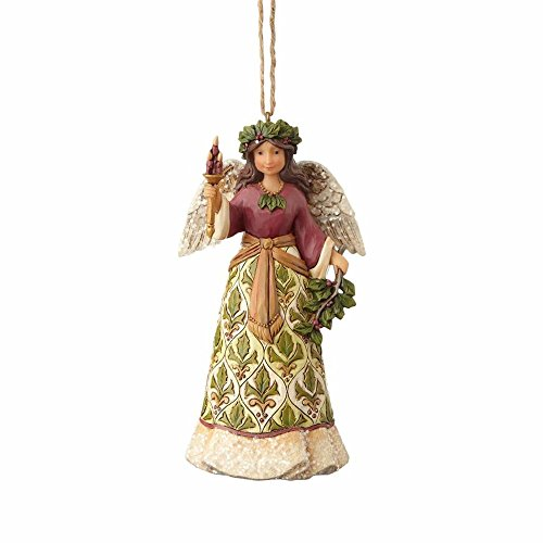 Enesco-Gift 4058758 Victorian Angel with Candle Ornament, Multi -