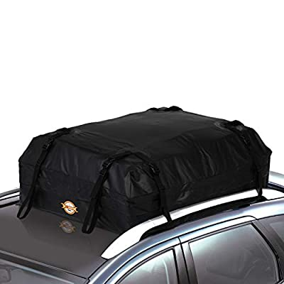 COOCHEER Car Roof Carrier- Waterproof Universal Soft Rooftop Bag Luggage Cargo Carriers for Car with Racks,Travel Touring,Cars,Vans, Suvs