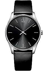 Calvin Klein CK Men's Black Classic Dress Watch K4D211C1