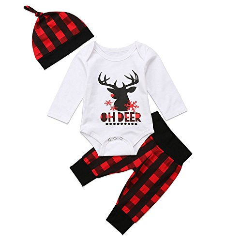 baby-boy-girl-christmas-deer-romper-plaid-long-pants-hat-outfits-clothes-set