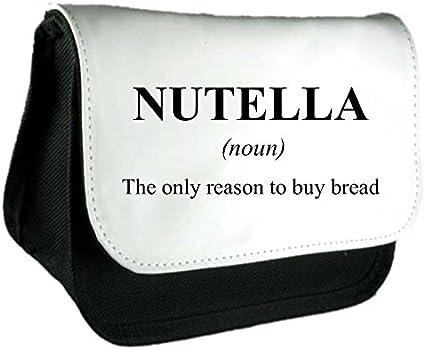 Nutella definición Funny alternativa no en el diccionario embrague bolsa o estuche, color negro talla única: Amazon.es: Oficina y papelería