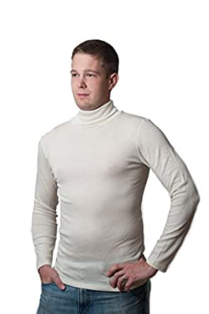 Hocosa organic merino wool silk long underwear shirt long for Mens silk shirts amazon