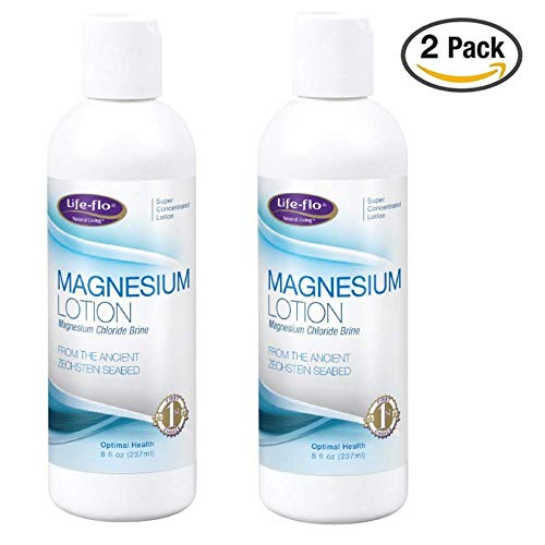 Joint Flo Care Life - Life-Flo Magnesium Lotion | Magnesium Chloride Supplement Sourced from Zechstein Seabed | For Muscle Massage and Relaxation | 8 fl oz | 2 pk
