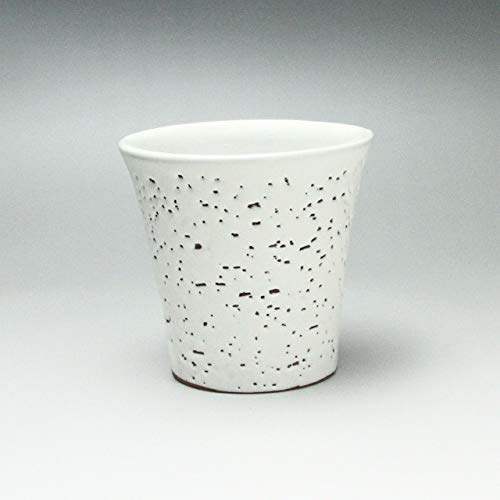 White Teacup Made by Yuuka Matsuo. Hagi yaki Japanese Ceramic.