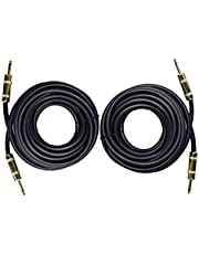 """Ignite Pro 2X 1/4"""" to 1/4"""" 25 Ft. True 12 Gauge Wire AWG DJ/Pro Audio Speaker Cable, Pair"""
